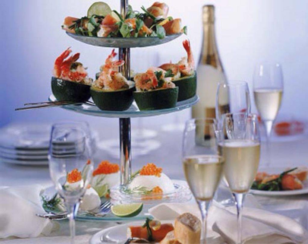 Champagne y comidas