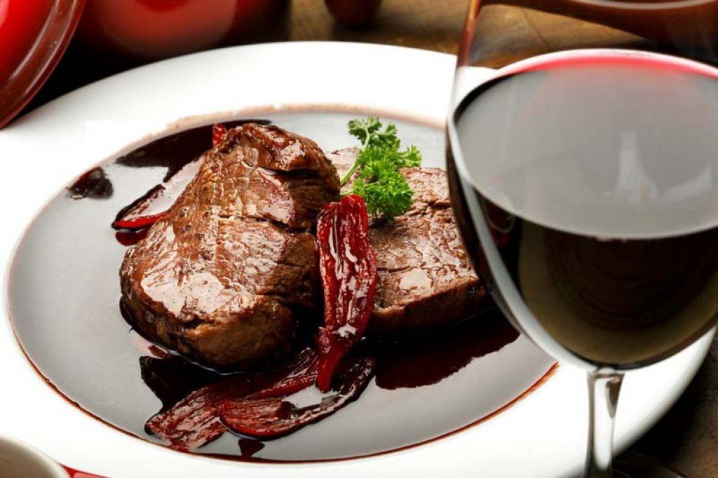 vinos y comida