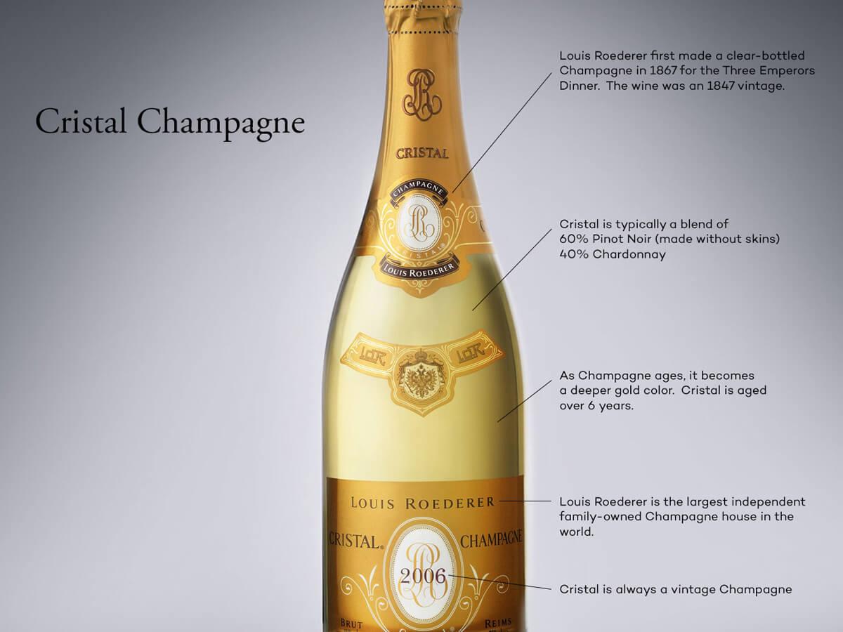 Cristal Champagne: el vino de los zares y las estrellas |  Locura del vino