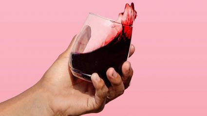 TOSSWARE 14oz Stemmed Vino- vaso de plástico para vino reciclable