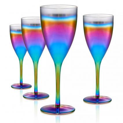 Vasos cáliz arcoíris