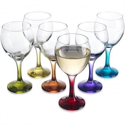 Copa de vino color carnaval