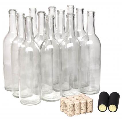 Botella de Vino de 750ml con Corchos Naturales