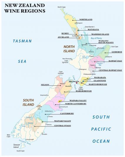 Regiones vinícolas de Nueva Zelanda