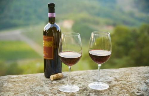 Botella de vino Chianti Classico