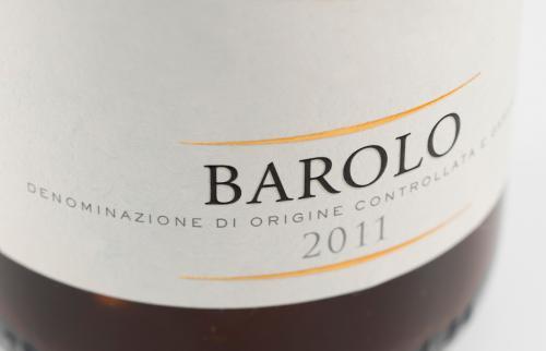 Etiqueta de botella de vino de Barolo