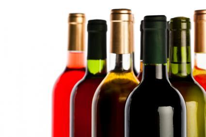 Surtido de botellas de vino