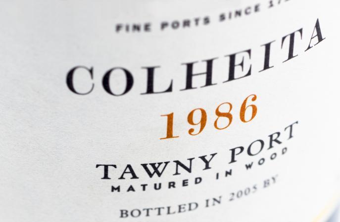 etiqueta de Oporto tawny vintage