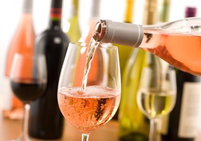 Copa de vino rubor