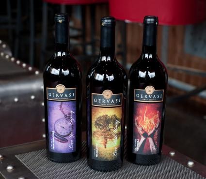 Botellas de vino Gervasi Vineyard