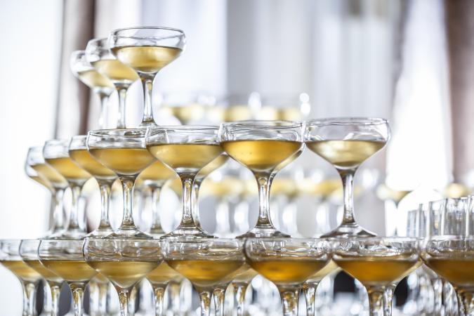 Torre de cupé de champán