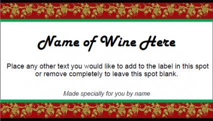Etiqueta de vino festivo