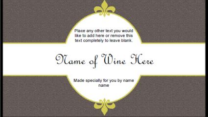 Etiqueta de vino neutra