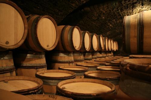 Barriles de vino de roble