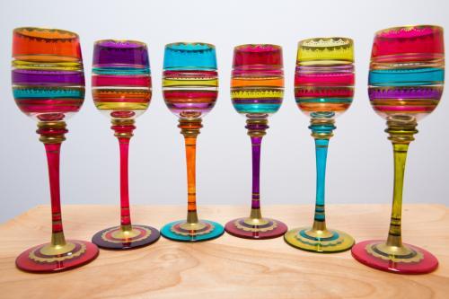 Copas de vino artesanales