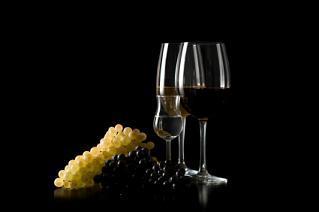 Uvas y vino