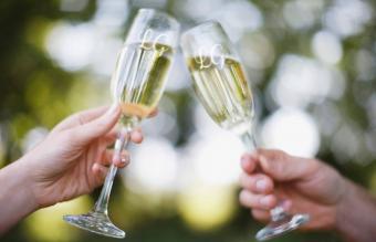 flautas de champán grabadas