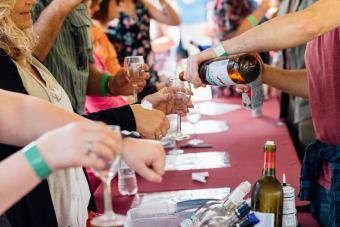 Cata de vinos del Festival del vino de Montpelier