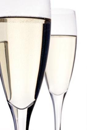 Dos copas de champán